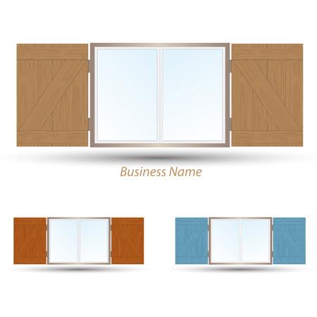 logo window shutter Ilustrace