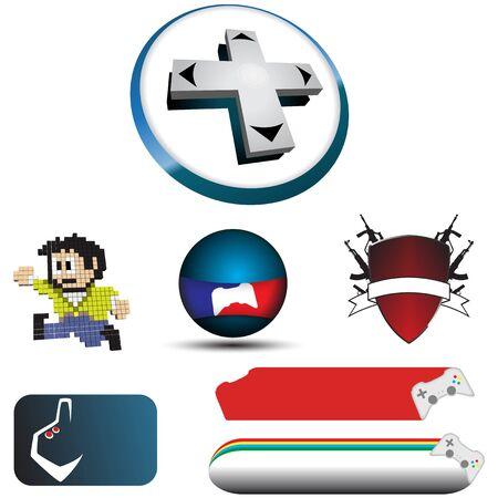 Logo video game Ilustrace