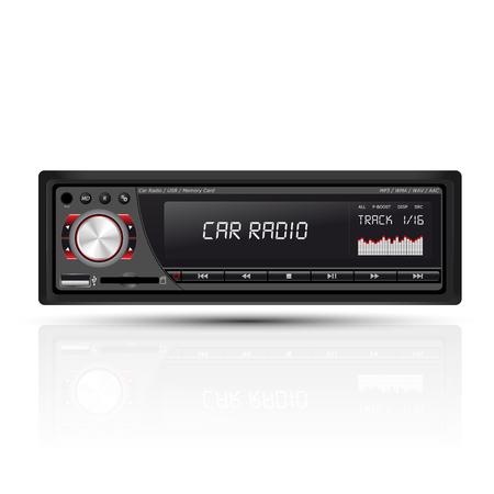 tuner: car radio red Illustration