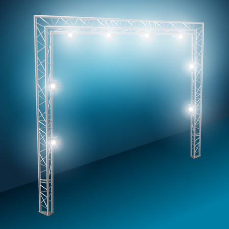 strobe light: bridge lights with white spotlights 2