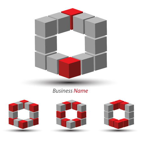 logo marketing: logo e-cube Illustration