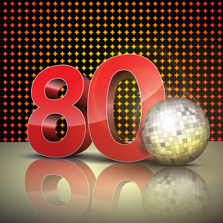 80s: 80s 3d red