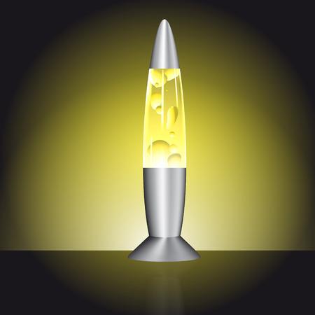 lava lamp: lava lamp yellow