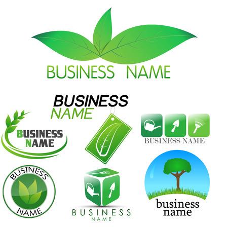 Logotipo de la jardinería Foto de archivo - 45623669