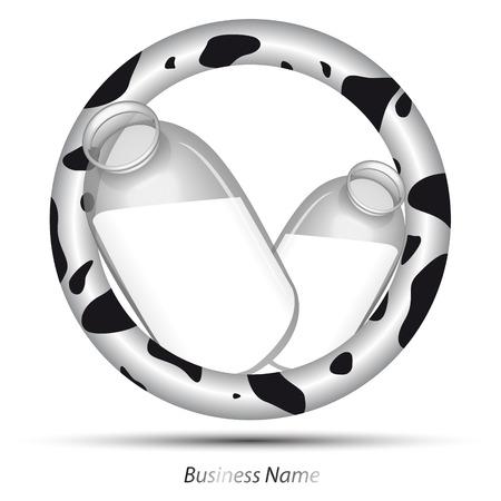 worse: logo milk cow