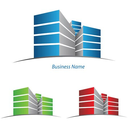 ロゴの建物  イラスト・ベクター素材