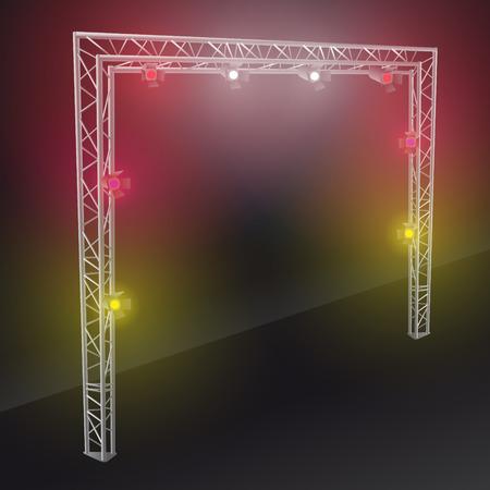 laser lights: bridge lights with colors spotlights 2