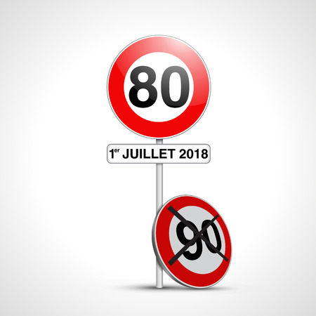 French 80 sign on 1st july 2018
