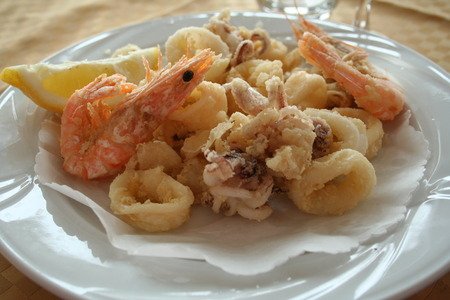 Italy. Liguria. Sea food photo