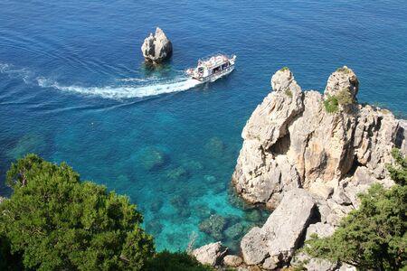 Greece. Corfu. Coast of Paleokastrica photo