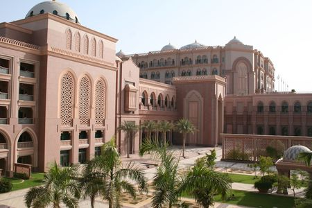 UAE. Abu Dhabi. Emirates Palace hotel Stock Photo