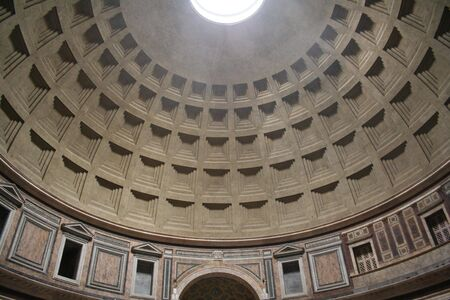 Italy. Rome. Dome of the Pantheon Stock Photo