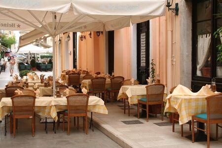 Greece. Corfu-town. Cafe