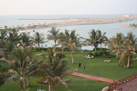 UAE. Resort. Beach Stock Photo