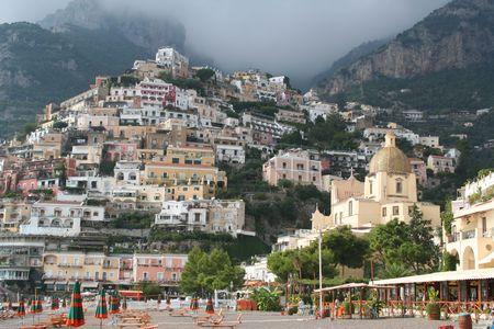 positano: Italy. Positano resort. Beach