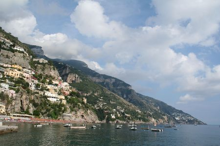 Italy, Positano beach Stock Photo - 3454130