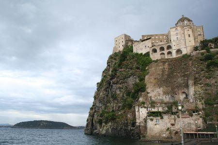 Italy. Campania. Ischia Island. Fortress Castello Aragonese