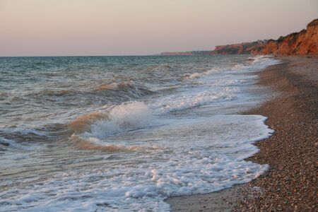 Ukraine. Crimea. Coastline of Black sea Stock Photo - 3727763