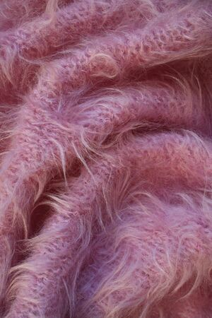 counterpane: Pink wool textured background Stock Photo