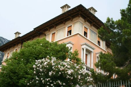 Italy. Lake Garda. Gargnano town. Villa photo