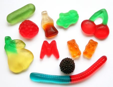 Colorful  different Jelly Candy  photo