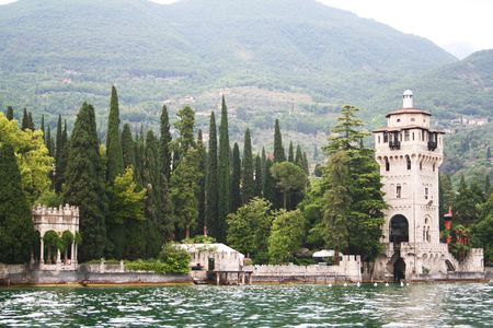 Italy. Lake Garda. Ancient villa photo