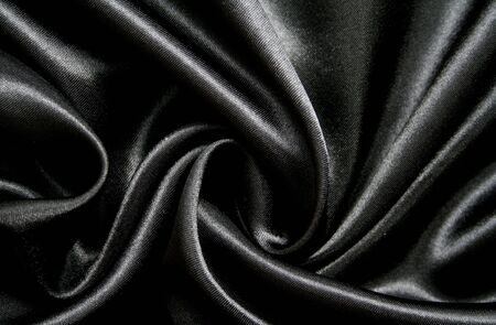 black silk: Smooth elegant black silk can use as background