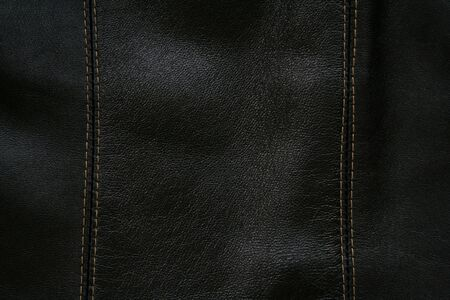 Close-up of black leather texture can use as background Stock Photo - 4836904