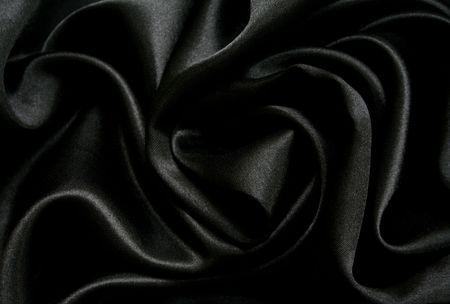 tela seda: Lisa seda elegante negra puede utilizar como fondo  Foto de archivo