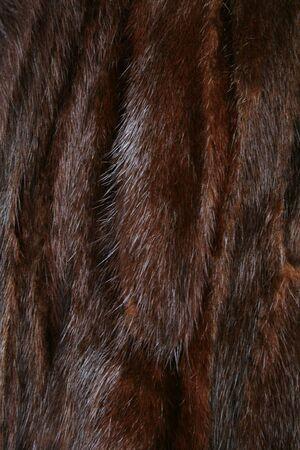 nerts: De vacht van bruin mink als achtergrond