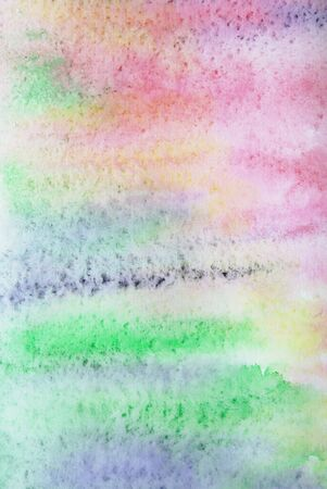 Abstract watercolor background with colorful different layers on paper texture  Stock Photo - 5444228