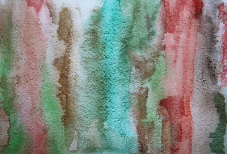 Abstract watercolor grunge background with colorful different layers on paper texture  photo