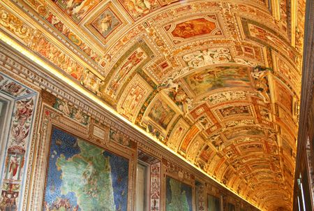 Italy. Rome. Vatican Museums. Gallery of the Geographical Maps