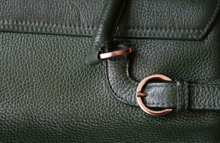 Close-up of green leather texture can use as background Stock Photo - 6108880