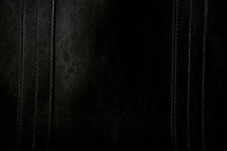 Close-up of black leather texture can use as background Stock Photo - 6108874