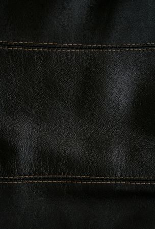 Close-up of black leather texture can use as background Stock Photo - 6188949