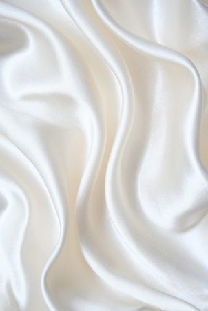 Smooth elegant white silk can use as background Stock Photo - 6420206