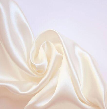 Smooth elegant white silk can use as wedding background  Standard-Bild