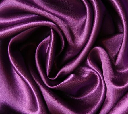 Smooth elegant lilac silk can use as background Stock Photo - 6973455