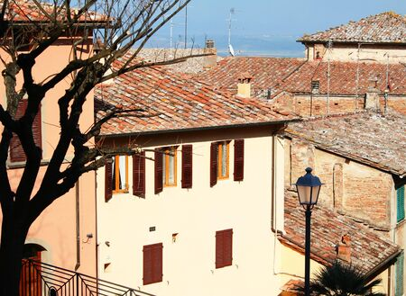 montepulciano: Italy. Tuscany region. Montepulciano town in spring  Stock Photo