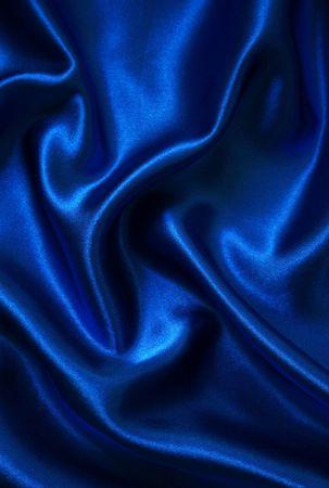 silk cloth: Liscio seta blu elegante possibile utilizzare come sfondo
