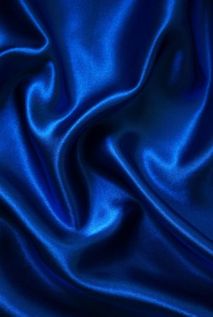 blue silk: Smooth elegant blue silk can use as background