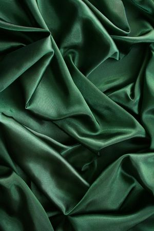 Smooth elegant dark green silk can use as background  Stock Photo - 8082591
