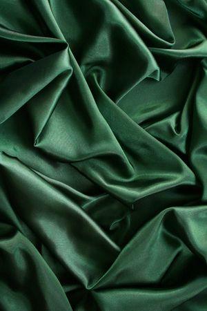 Smooth elegant dark green silk can use as background