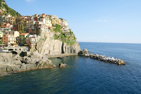 Italy. Cinque Terre region. Colorful Manarola village  photo