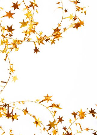 spangles: Holiday golden stars and spangles can use as background