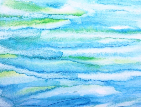 Abstract watercolor background with colorful different layers on paper texture  photo
