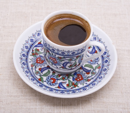 A cup of turkish coffee  photo
