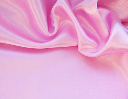 Smooth elegant pink silk can use as background