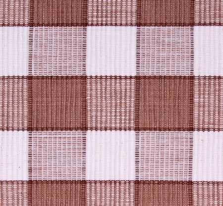 Linen white and brown fabric as background  Stock Photo